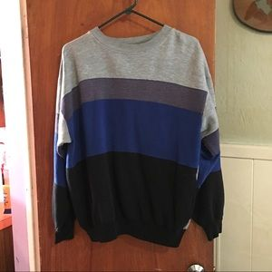 VTG color block pocket sweatshirt sz L